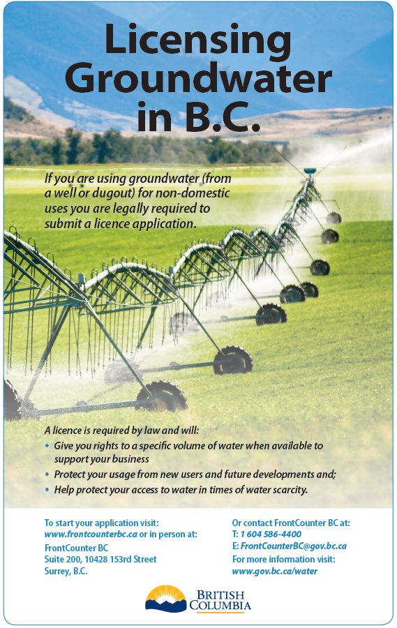 Dont forget to register your groundwater!
